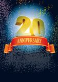 Twentieth anniversary. Background with design elements for the poster celebrating twentieth anniversary Royalty Free Stock Photography