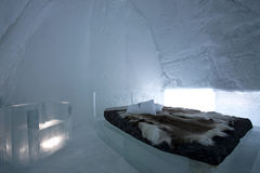Twentieth edition IceHotel room Royalty Free Stock Photo