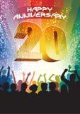 Twentieth rocznica Fotografia Stock