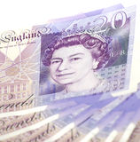 Twenty (20) Pounds Banknote stock image