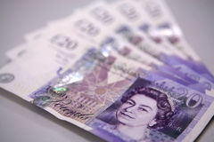 Twenty (20) Pounds Banknotes Stock Photography