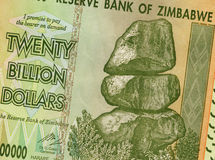 Twenty Billion Dollars - Zimbabwe. Banknote of Zimbabwe with a value of twenty billion dollars. The hyper inflation in Zimbabwe in 2008 and 2009 broke every Stock Photo