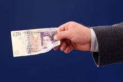 Twenty British pounds Stock Images