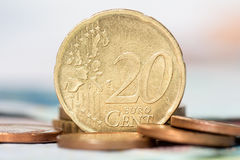 Twenty cents euro coin Stock Image