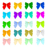 Twenty color bows Stock Image