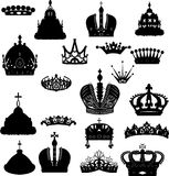Twenty crowns set Stock Photography