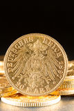 Twenty Deutsch Mark coins Stock Images