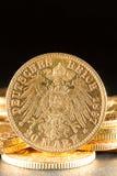 Twenty Deutsch Mark coins. Twenty Deutsch Mark gold coins Stock Images