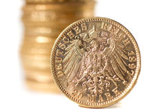 Twenty Deutsch Mark coins Royalty Free Stock Photos