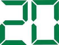 Twenty digital number 20. Vector Royalty Free Stock Image