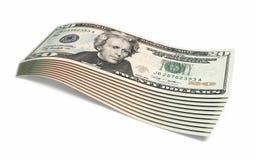 Twenty dollar banknotes Stock Image