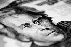 Twenty Dollar Bill. Macro shot Stock Photo