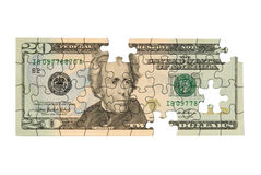 Twenty dollar bill Stock Images