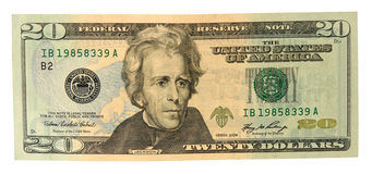 Free Twenty Dollar Bill Stock Photo - 9433390