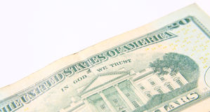 Twenty Dollar Bill isolated Stock Photography