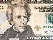 Twenty dollar bill. American money background Stock Photography