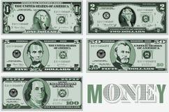 A twenty dollar bill typographic design Royalty Free Stock Photos