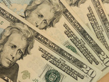 Twenty dollar bill Stock Photos