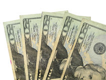 Twenty dollar bills Royalty Free Stock Photo