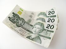 Twenty Dollar Bills Royalty Free Stock Images