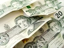 Twenty Dollar Bills Stock Photo
