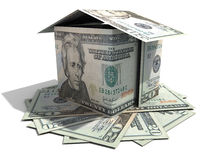 Twenty dollar house Royalty Free Stock Image