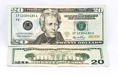 Twenty dollars banknote Stock Photo