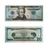 Twenty dollars with path. Both sides of the twenty dollar bill isolated on white with clipping path - large file