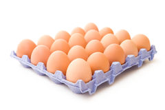 Twenty eggs Royalty Free Stock Photo