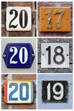 Twenty eighteen in numbers Royalty Free Stock Images