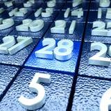 Twenty-eighth calendar day Royalty Free Stock Photo