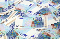 Twenty euro background Stock Image