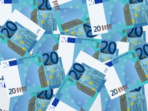 Twenty euro background Stock Photo