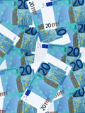 Twenty euro background vertical Royalty Free Stock Photos
