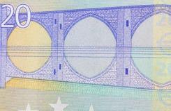 Twenty Euro Banknote in a macro shot Royalty Free Stock Photos