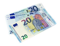 Twenty Euro banknote on white background Royalty Free Stock Images
