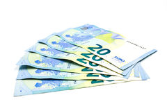 Twenty euro banknote Stock Photos