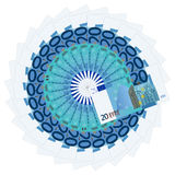 Twenty euro banknotes Royalty Free Stock Photos