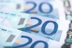 Twenty euro banknotes Stock Images