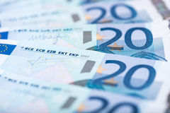 Twenty euro banknotes Royalty Free Stock Images