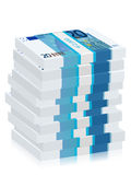 Twenty euro banknotes stacks Royalty Free Stock Photo