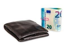 Twenty Euro Banknotes. Isolated on white background Royalty Free Stock Photo