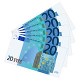 Twenty euro banknotes Royalty Free Stock Photography