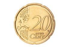 Twenty euro cent closeup Royalty Free Stock Image
