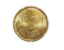 The twenty euro cent stock photo