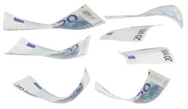 Twenty euro greenback. There is some twenty euro greenback in various positions Stock Photography