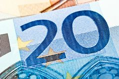 Twenty euro note Stock Photography