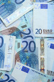 Twenty euro notes Stock Photo