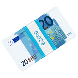 Twenty euro pack Stock Image