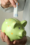 Twenty euro for the piggy bank Royalty Free Stock Images